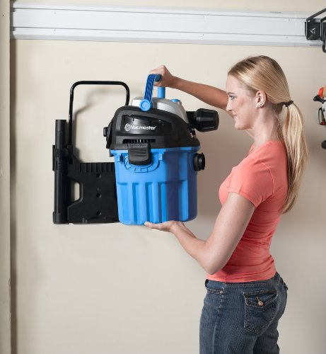 Vacmaster VWM510 Wall Mount Wet/Dry Vacuum Powered by Industrial 2-Stage Motor with Remote Control, 5 Gallon, 5 Peak HP