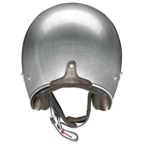 X-Lite X-201Fresno Jet Motorcycle Helmet Composite Fibre N-Com Scratched Chrome