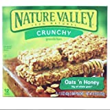 Nature Valley Crunchy Granola Bars, Oats 'n Honey, 12-Count  1.5 oz. Bars (Pack of 12) ~ Nature Valley