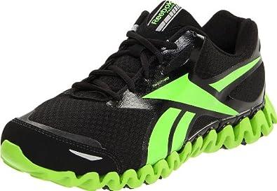 Reebok Men's Premier ZigFly SE Running Shoe,Black/Sushi Green,12.5 M US