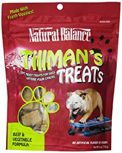 Natural Balance Training Tips Beef Vegetable Dog Treats, 6-Ounce Bag
