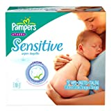Pampers Sensitive Baby Wipes Refills, 192 Count Packages (Pack of 4)