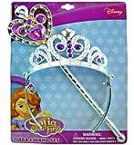 Disney Princess Sofia the First Tiara and Wand Set - Silver and Purple