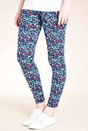 Cotton Rich Floral Print Leggings [T54-8096-S]