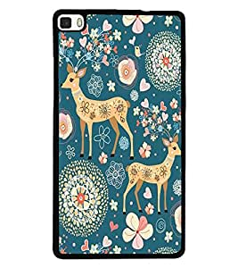 printtech Animal Pattern Back Case Cover for Huawei P8