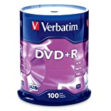 Verbatim 97459 4.7 GB up to16x Branded Recordable Disc DVD+R - 100 Disc Spindle