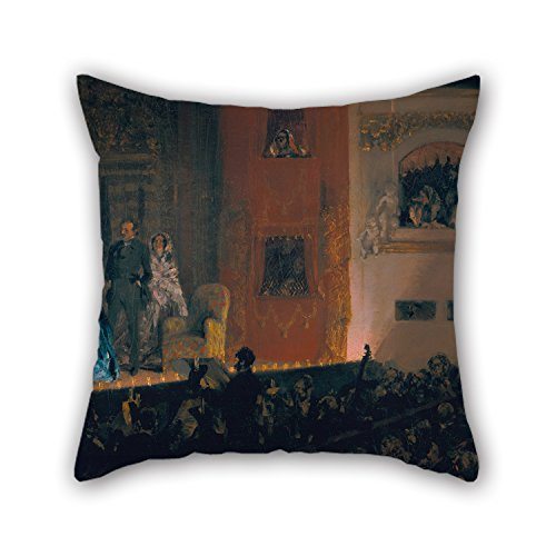 Uloveme Oil Painting Adolph Menzel - ThÃâtre Du Gymnase In Paris Throw Christmas Pillow Covers Best For Relatives Festival Gf Teens Boys Couples Shop 20 X 20 Inches / 50 By 50 Cm(each Side) (Blackbird Food Co compare prices)