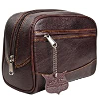 Deluxe Leather Toiletry Bag (Dopp Kit) from Parker Safety Razor from Parker Safety Razor
