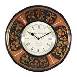 Home And Bazaar Traditional Rajasthani Hand Painted Wooden Wall Clock - B00REJSEHQ