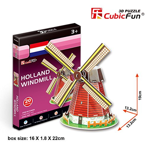 "CubicFun 3D Puzzle S-Series ""Holland Windmill"""