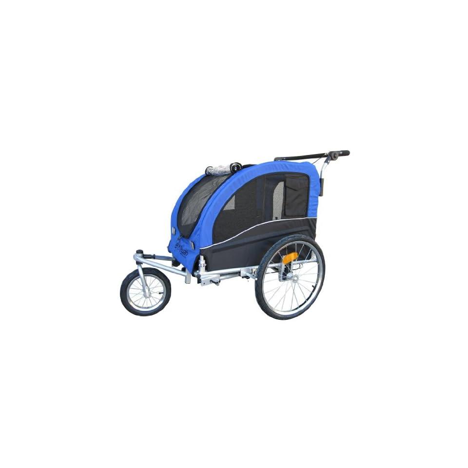Booyah Large Pet Trailer Pet Bike Trailer & Jogger with Shocks   Blue