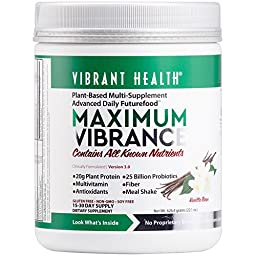 Vibrant Health - Maximum Vibrance - All in One Multi-Supplement Advanced Daily Futurefood, 15 servings , 22.1 Oz/626.4 grams