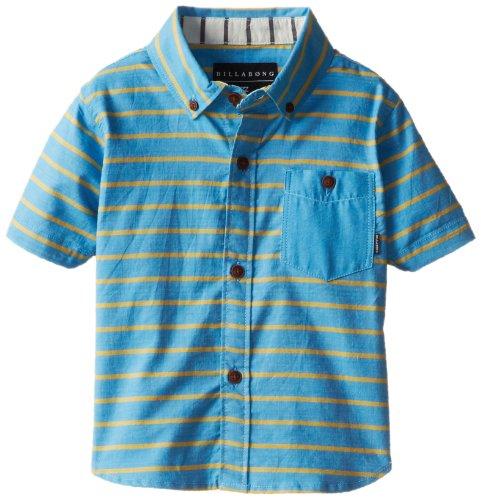 Billabong Little Boys' Kids Endless Short Sleeve Woven Shirt, Blue, 4S front-1071871