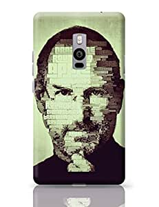 PosterGuy Steve Jobs Typographic Illustration Motivational Famous Personality OnePlus Two Cover