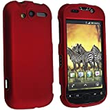 eForCity Snap-On Rubber Coated Case Compatible with HTC /T-Mobile myTouch 4G - Retail Packaging - Wine Red