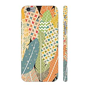 Enthopia Designer Hardshell Case Prints on Feathers Back Cover for Apple Iphone 6 Plus, 6s Plus