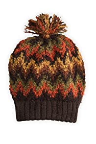 Tey-Art Hot Flame Stitch Boucle Alpaca Hat (Multi)