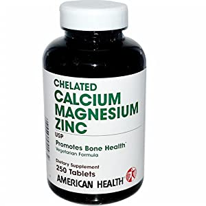 Calcium, Magnesium & Zinc American Health Products 250 Tabs