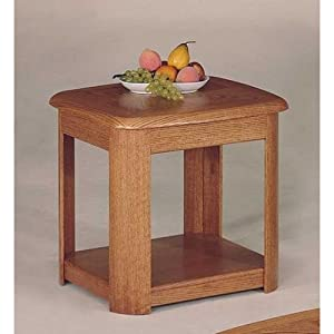 Traditional Oak Finish Occasional Living Room End Side Table