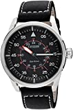 Citizen Herren-Armbanduhr XL Analog Quarz Leder AW1360-04E