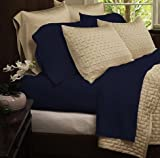 Bedding sets- Eco-Friendly Organic Bamboo Bed Sheets-Size KING-Color -NAVY-bamboo fiber sheets are comfortable and ultra-soft & silky which ensures your body and mind get a peaceful sleep all night long-GUARANTEED!