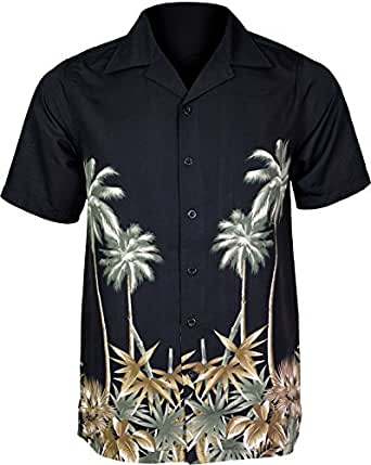 Mens Hawaiian Shirts Short Sleeve Shirt Tree Beach And Printed Colorful Graphics Big Sizes Small To 6XL King Size Large Sized