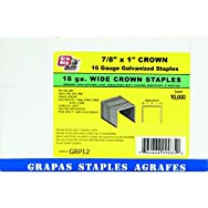 Prime Source PneumaticGRP12P Wide Crown Finish Staple-16GA 1X7/8 STAPLE