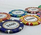 モンテカルロ タイプ チップ 輸入品 カジノ ポーカー クラブ コイン ノーブランド テーブル ゲーム (全種180枚セット)