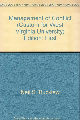 management of conflict (west virginia university, ilr 507)