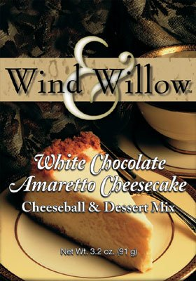 Wind and Willow White Chocolate Amaretto Cheesecake Cheeseball & Dessert Mix - 3.2 Ounce (4 Pack) (No Salt Cheese compare prices)