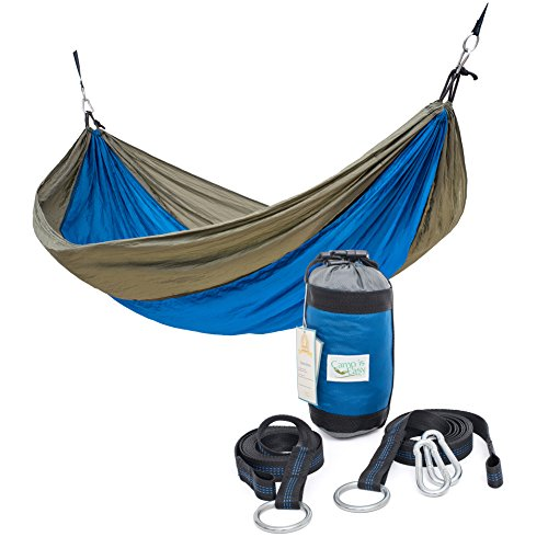 Rip Resistant Parachute Camping Hammock With 2 Tree Straps Included. Single Person Or Double. Ultralight Nylon. Portable & Compact. Best for Hiking, Backpacking, Trek & Travel. Special Compression Bag (Peak 1 Backpack Stove compare prices)