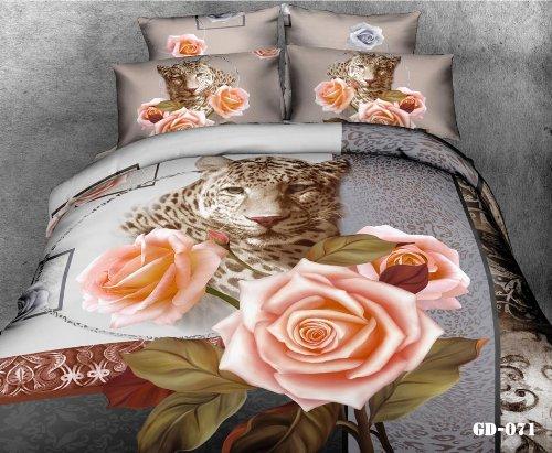 Pink Leopard Print Bedding front-329325