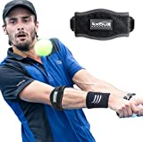 Tennis - Golfers Elbow Support Brace Strap - Relieves Epicondylitis Foream Pain Double Velcro Clasp System & 1/4