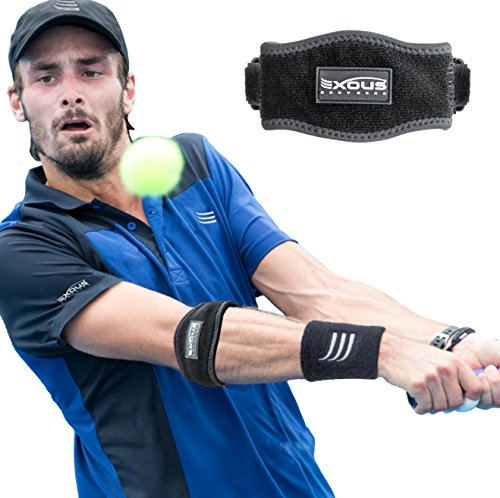 tennis-golfers-elbow-support-brace-strap-relieves-epicondylitis-foream-pain-double-velcro-clasp-syst