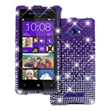 Empire Diamante Bling Case for HTC Windows Phone 8X - Light Purple Fade
