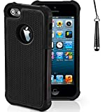 IChoose® Shockproof (Shock-Proof) Case Cover for Apple iPhone 5c (8GB, 16GB, 32GB) - Black