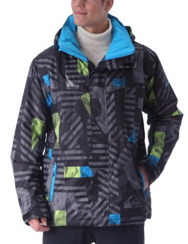 Quiksilver Last Mission Print 2 Men's Jacket Snapper Medium
