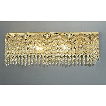 Gold Tone Vanity Lights : Swarovski Crystal Wedding Dress Car Interior Design