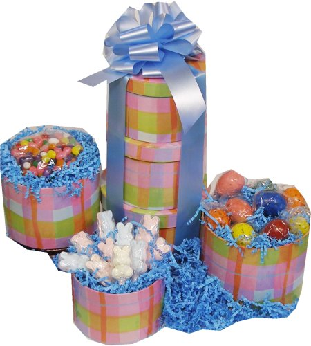 Plaid Easter Candy Gift Tower (Gourmet,Candy Crate,)