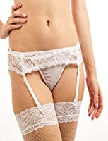 Yummy Bee Lingerie Lace Suspender Belt Size 8 - 22 + Lace Top Stockings