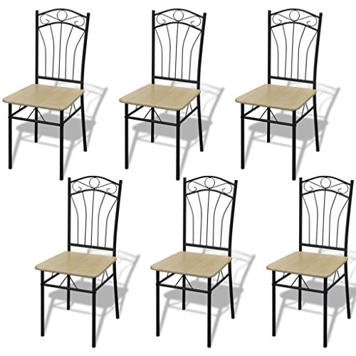 vidaxl-set-of-6-light-brown-steel-frame-dining-chairs