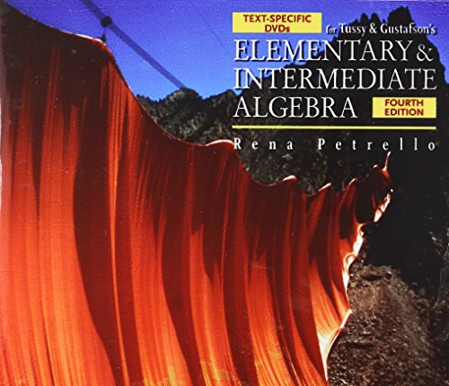Text-Specific DVD for Tussy/Gustafson's Elementary and Intermediate Algebra, 4th