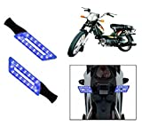 Capeshoppers Parallelo LED Bike Indicator Set Of 2 For TVS SUPER XL S/S - Blue