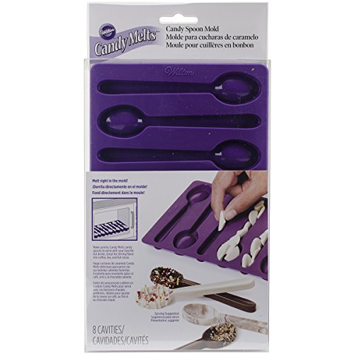 Purchase Wilton 2115-0229 Spoon-Shaped Silicone Candy Mold, Purple