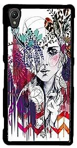 inktree Back Cover For Sony xperia Z3 (Black, ink_Z3_247)