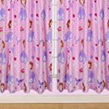 Character World 54-inch Disney Sofia The First Amulet Curtains, Multi-Color by Character World