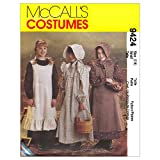Girls' Pioneer Costumes, M9424, Size MED