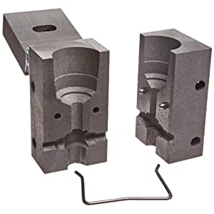 Burndy B-557 BCR-2 Type Horizontal Cable to Ground Rod Mold Splice, 3/4