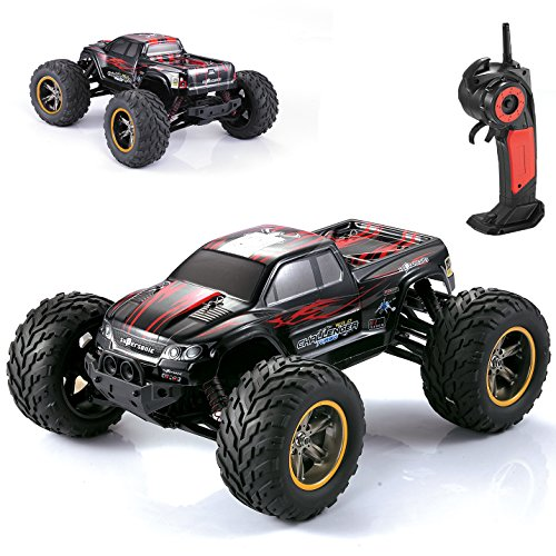 AMOSTING S911 35MPH 1/12 Scale 2.4GHz Remote Control Monster Truck – Red