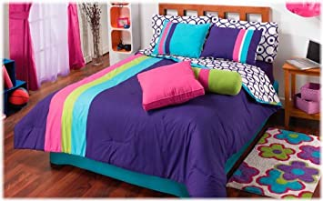 Top Seller Purple Lollipop Teens Complete Comforter Set With 3 Views Full Teen Girl Bedding Aphfciefke